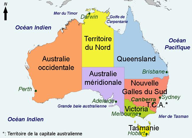 australie carte touristique australie. Black Bedroom Furniture Sets. Home Design Ideas