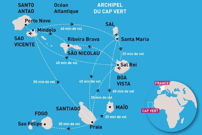 Carte Senegal Cap Vert.Cap Vert Carte Du Cap Vert