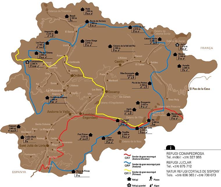 Andorre - Carte de la Principauté d'Andorre