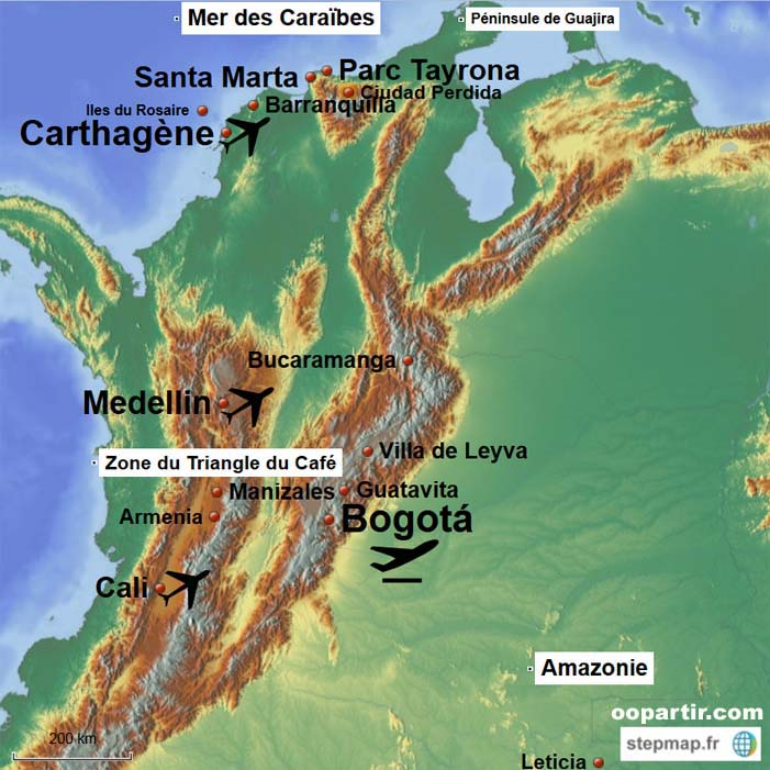 Au Train Mi >> Colombie - Carte de la Colombie