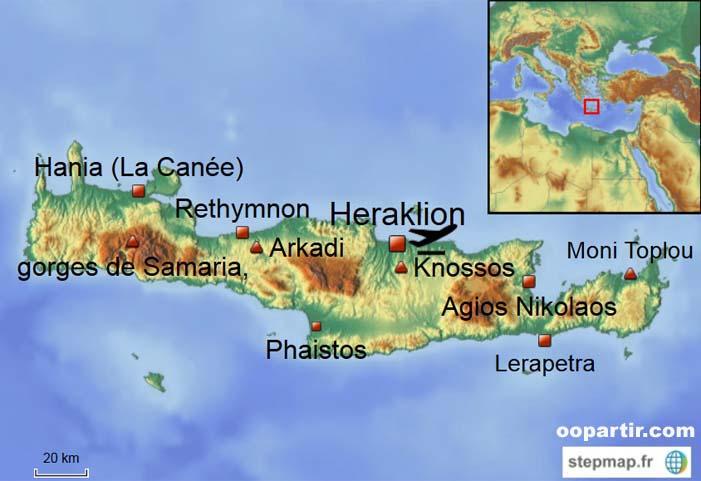Carte Crete.Crete Carte De La Crete