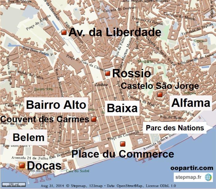 Portugal carte touristique du portugal - Office du tourisme de lisbonne ...