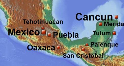 mexique mérida carte